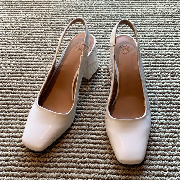 Urban Outfitters Shoes - White sling back pumps